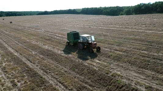 Thumbnail for Tractor with Baling Press 10