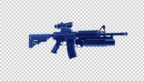 Assault Rifle - 3D Outline