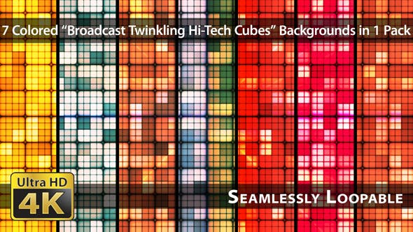 Thumbnail for Broadcast Twinkling Hi-Tech Cubes - Pack 02