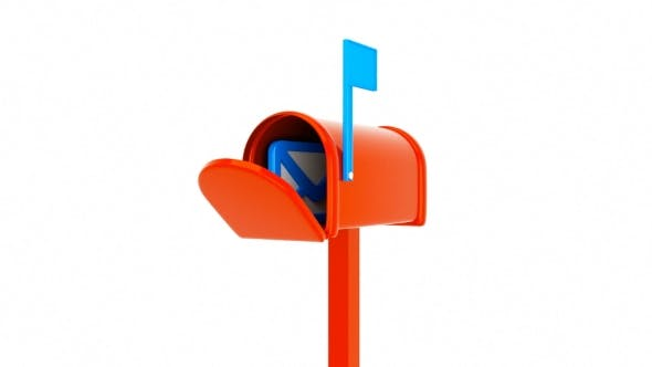 3D Animation Of Mailbox With Mail