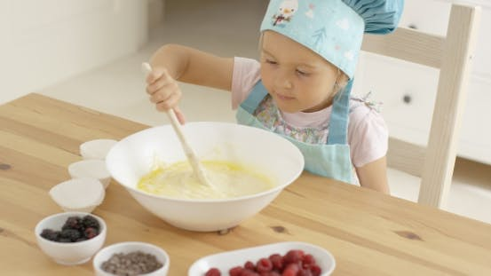Thumbnail for Adorable Toddler At Mixing Bowl