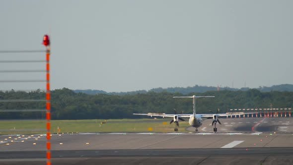 Thumbnail for Turboprop Aircraft Decelerating After Landing