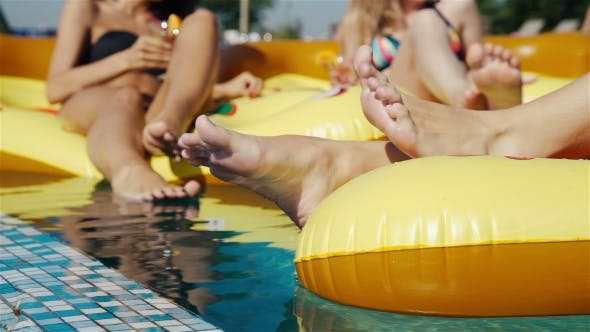 Thumbnail for Legs in the Pool. Vacation at Summer