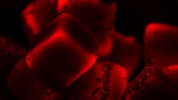 Hookah With Glowing Hot Coal,