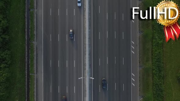 Thumbnail for Aerial View of Traffic on the Motorway