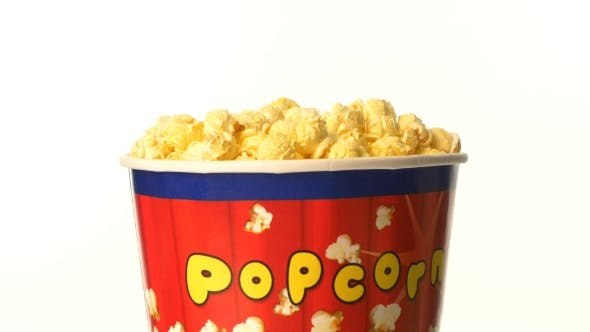 Cover Image for Popcorn In Box On White, Rotation
