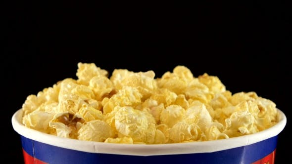 Thumbnail for Popcorn In Box On Black, , Rotation