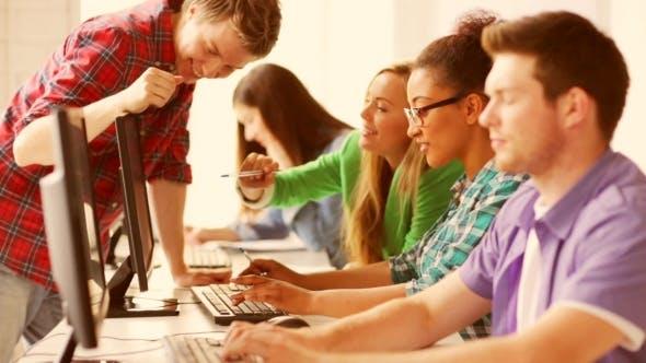 Thumbnail for Students Making Computer Test At Informatics