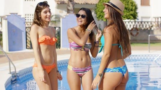 Thumbnail for Three Sexy Trendy Women In Bikinis