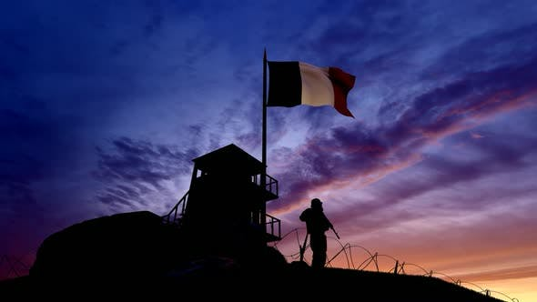 Thumbnail for French Soldier On The Border At Night At The Border