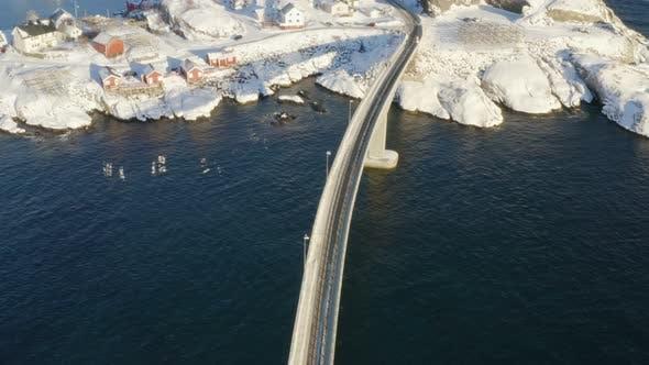 Thumbnail for Hiver Lofoten Shore Vue aérienne 2