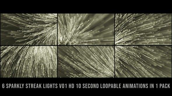Sparkly Streak Lights Gold V01