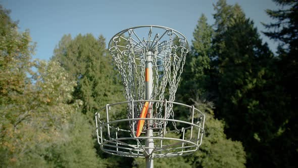 Thumbnail for Frisbee Golf Basket Hole With Disk Hitting Chains