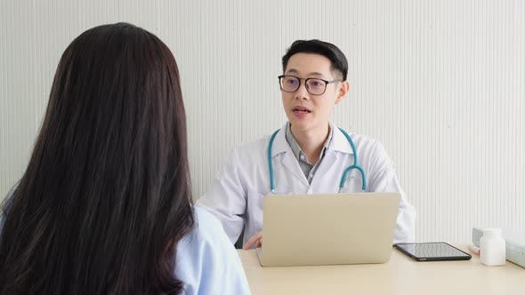 Doctor consulting for treatment patients women