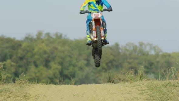 Thumbnail for Motocross rider doing stunts