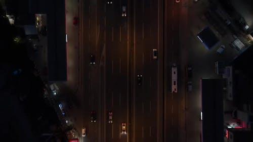 Nigth Traffic Top View
