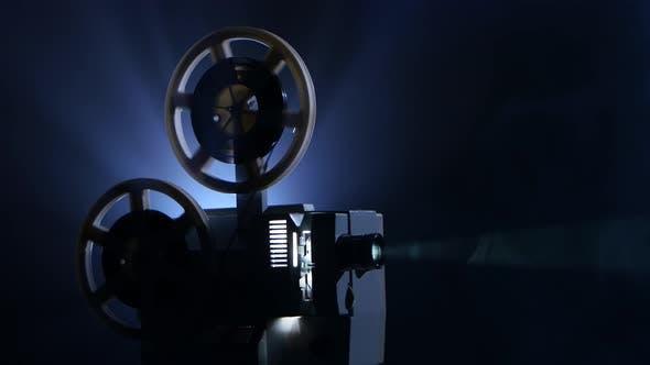 Smoky Dark Studio. Film Rotates Reels and Vintage Movie Shows