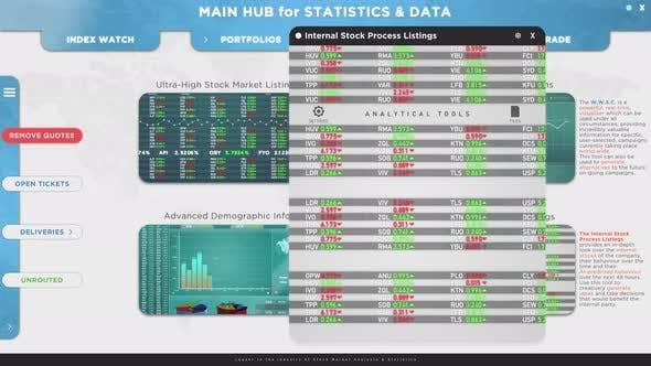 Thumbnail for Mock Up Animation der Finanzmarktdatensoftware