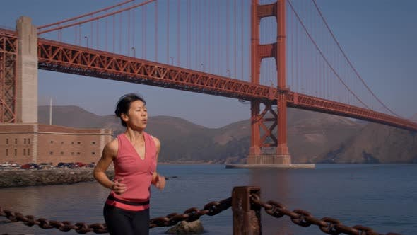 Thumbnail for Woman Jogging Golden Gate