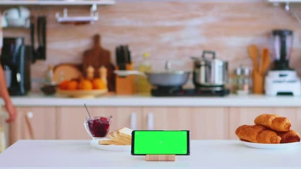 Thumbnail for Phone with Touch Screen and Green Mock Up