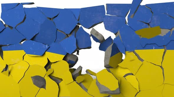 Thumbnail for Crushing Concrete Wall with Flag of Ukraine