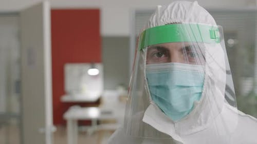 Medical Worker Wearing Hazard Protection