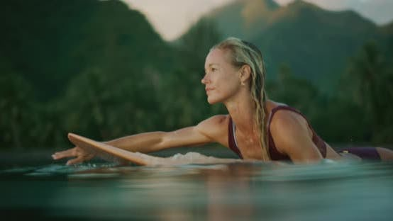 Thumbnail for Surfing is her meditation