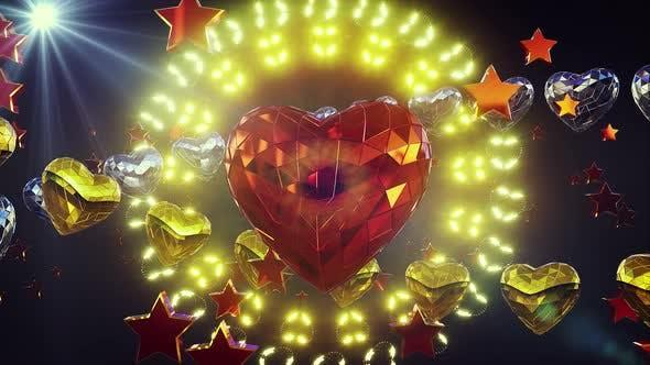 Thumbnail for Glänzende Herz Hintergrund 4k
