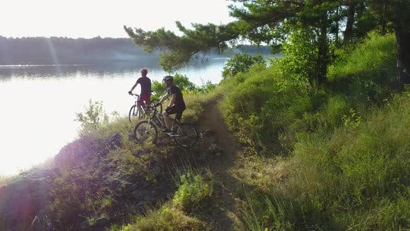 Thumbnail for Men Riding Bicycle in Nature