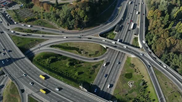 Thumbnail for Aerial View of Major Road Junction