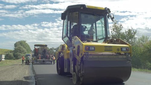A road roller