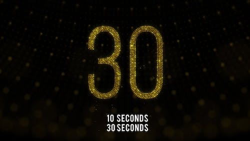 Golden Countdown 30 Seconds and 10 Seconds