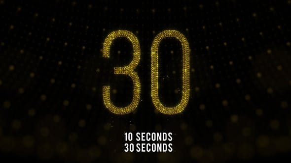 Thumbnail for Golden Countdown 30 Seconds and 10 Seconds