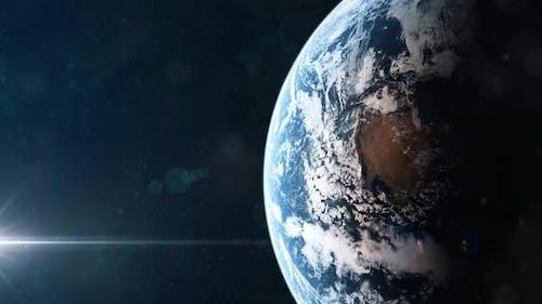 Realistische Aufnahme des Planeten Erde vom Orbit aus gesehen