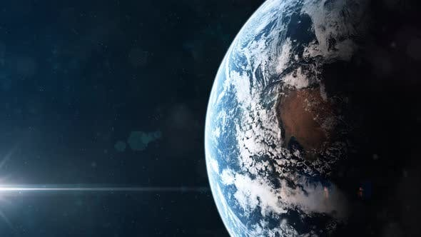 Realistic Shot of Planet Earth Seen From Orbit