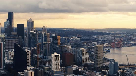Thumbnail for Seattle City In Motion Time Lapse With Ferry Transportation