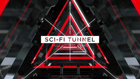 Cover Image for Sci-fi Tunnel VJ Loops Background