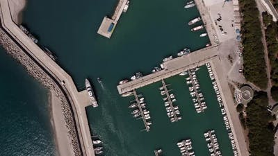 Aerial view of the port of Roccella Jonica