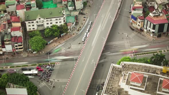 Thumbnail for Chaotic Intersection In Hanoi Vietnam Time Lapse