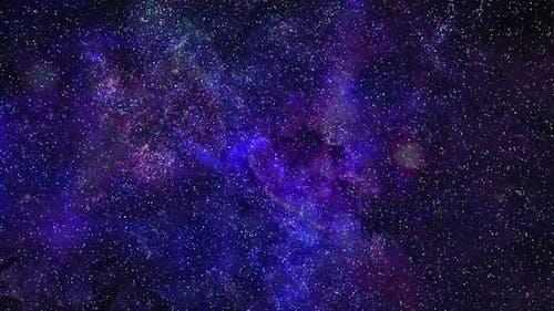 4k Flying To Galaxy