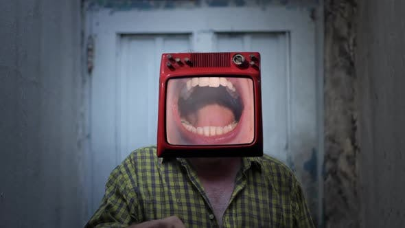 Open Mouth at Dentist in a TV Head.