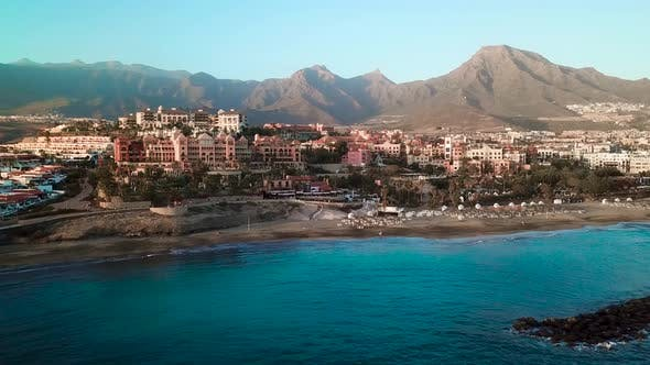 Top View Over Los Cristianos Canary Islands Tenerife Spain