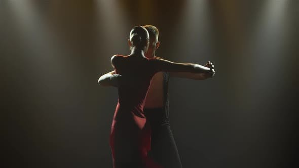 A Passionate Tango Dance Performed By a Pair of Ballroom Dancers