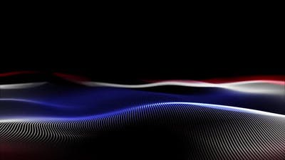 Digital wave particles for fabric backgrounds
