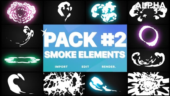 Thumbnail for Smoke Elements Pack 02 | Motion Graphics Pack