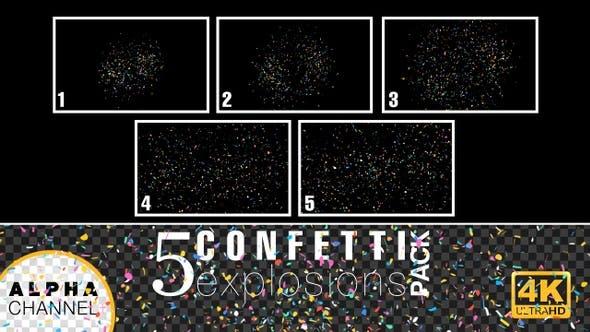 Thumbnail for 4K Celebration Confetti Explosions Pack