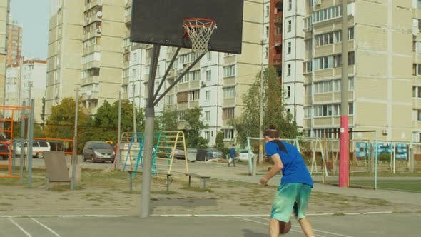 Thumbnail for Streetball Player Practicing Ball Handling Skills