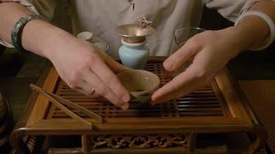 Tea Master Drinking Tea