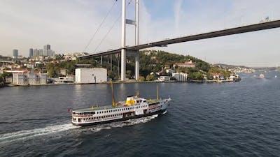 Ferry Boat Istanbul Bridge