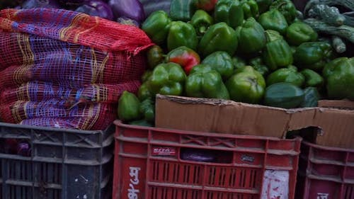 Fresh Vegetables At A Farmers' Market In Himachal Pradesh India